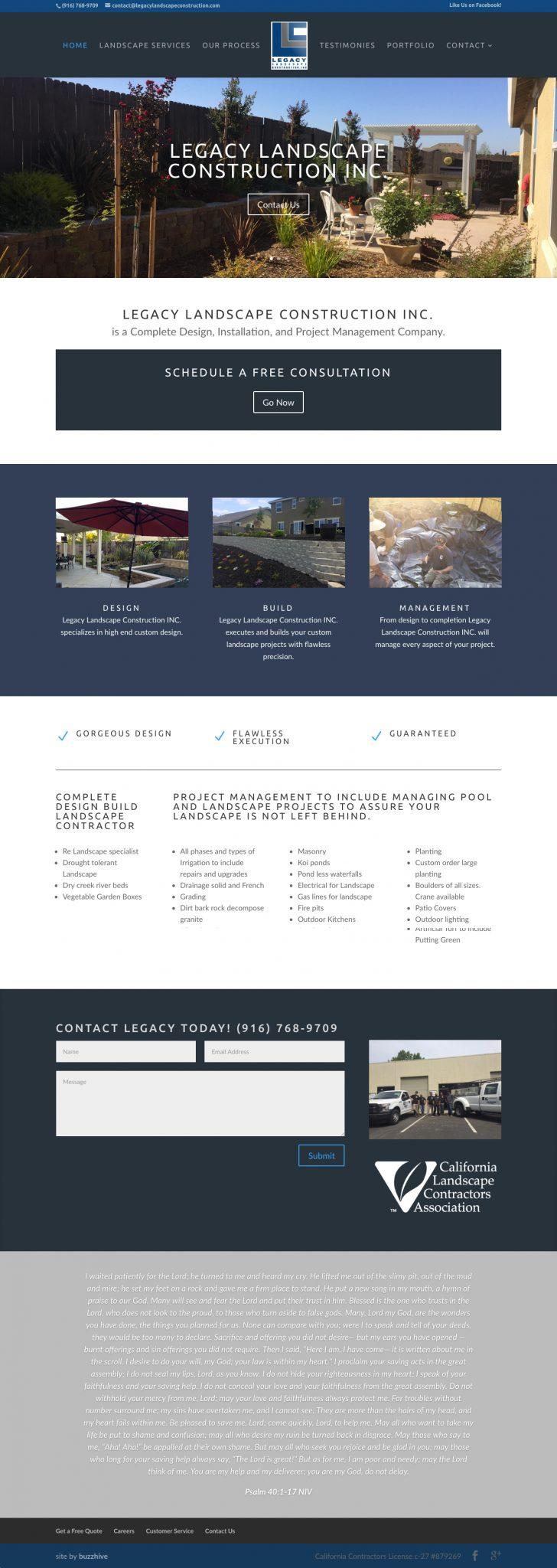 LegacyLandscapeConstruction.com_ Web Design & Development