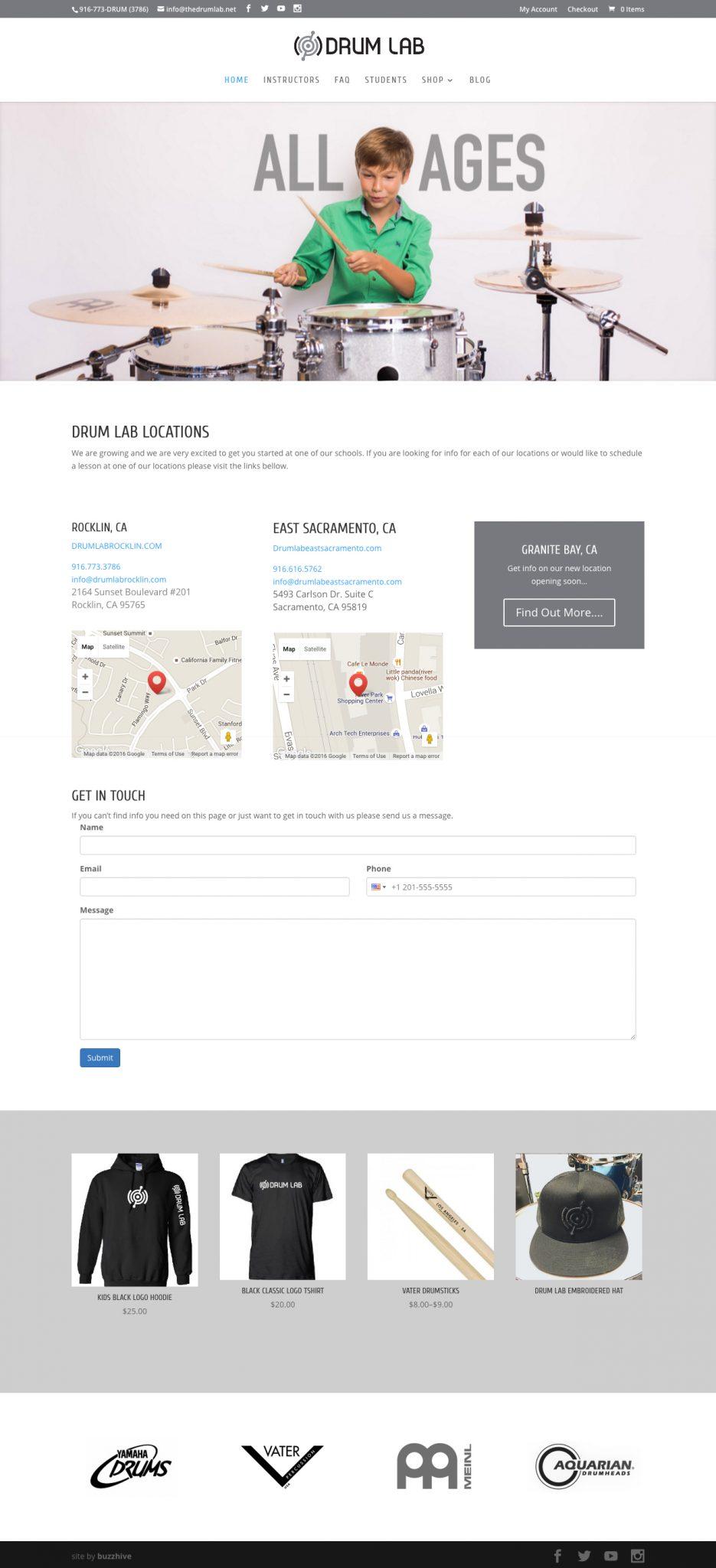 TheDrumLab.net_ Web Design & Development