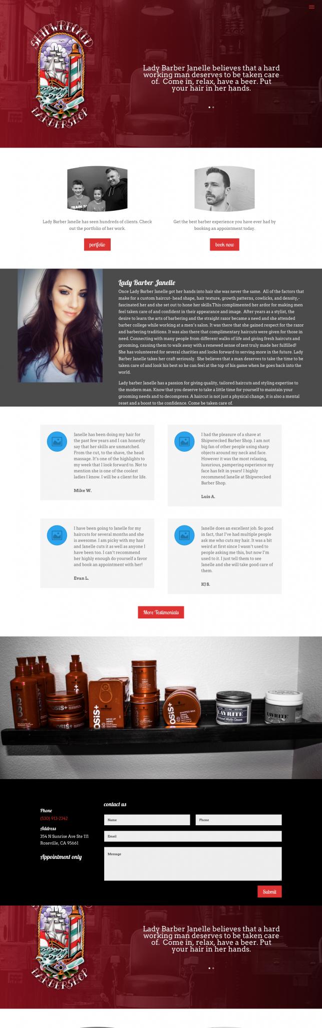 shipwreckedbarbershop.com_ Web Design & Development