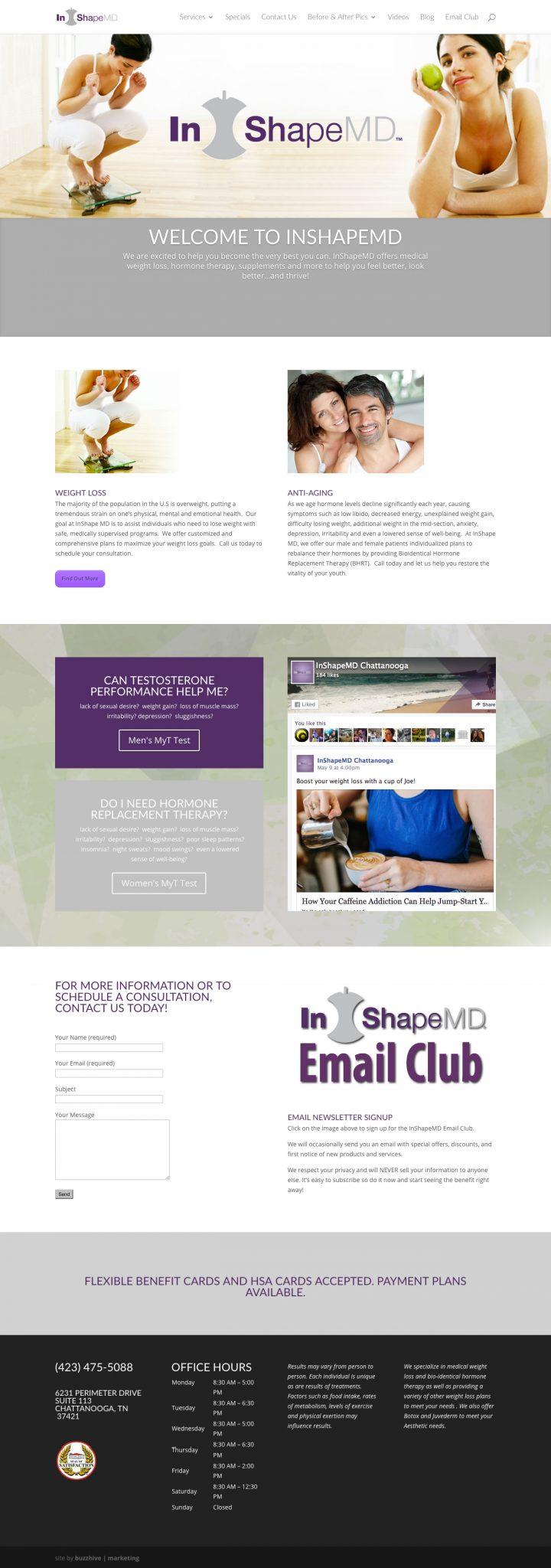 InShapeMDChattanooga.com_ Web Design & Development