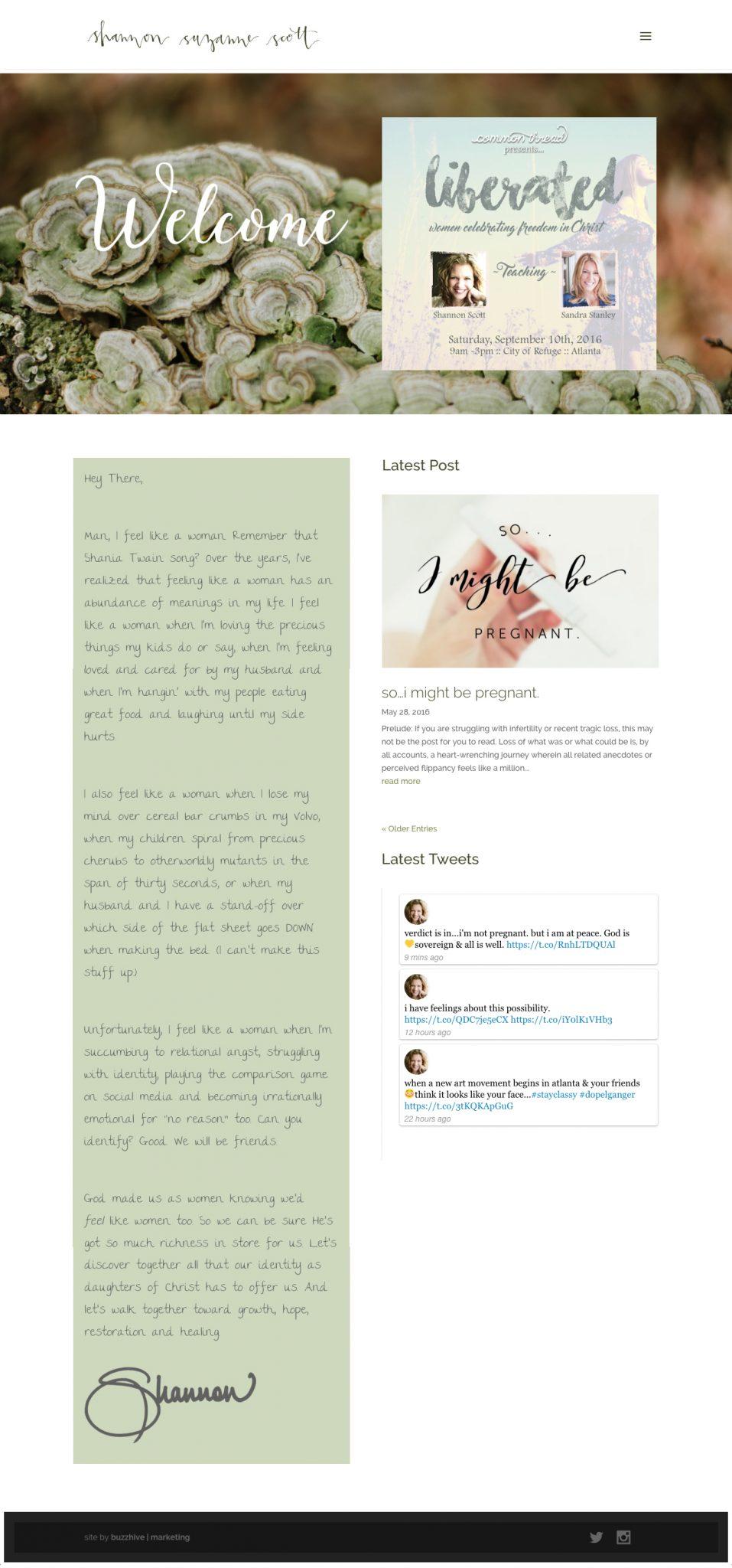 ShannonSuzanneScott.com_ Web Design & Development