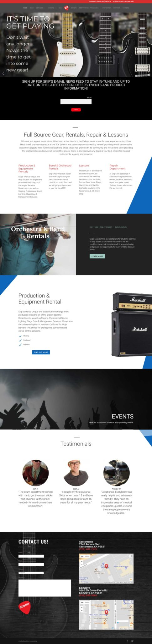 skipsmusic.com_ Web Design & Development