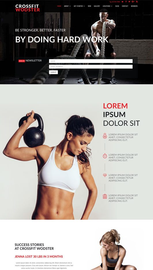 gym Web Design & Development