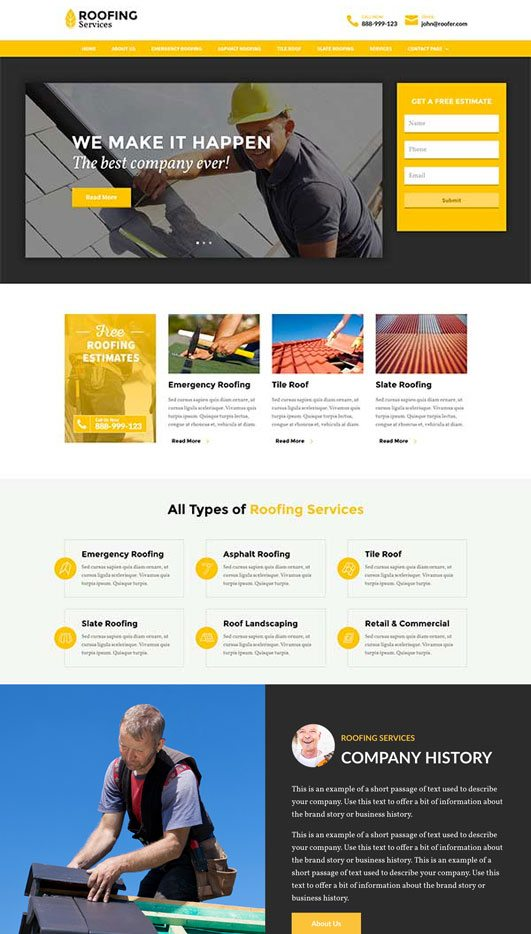 roofer Web Design & Development