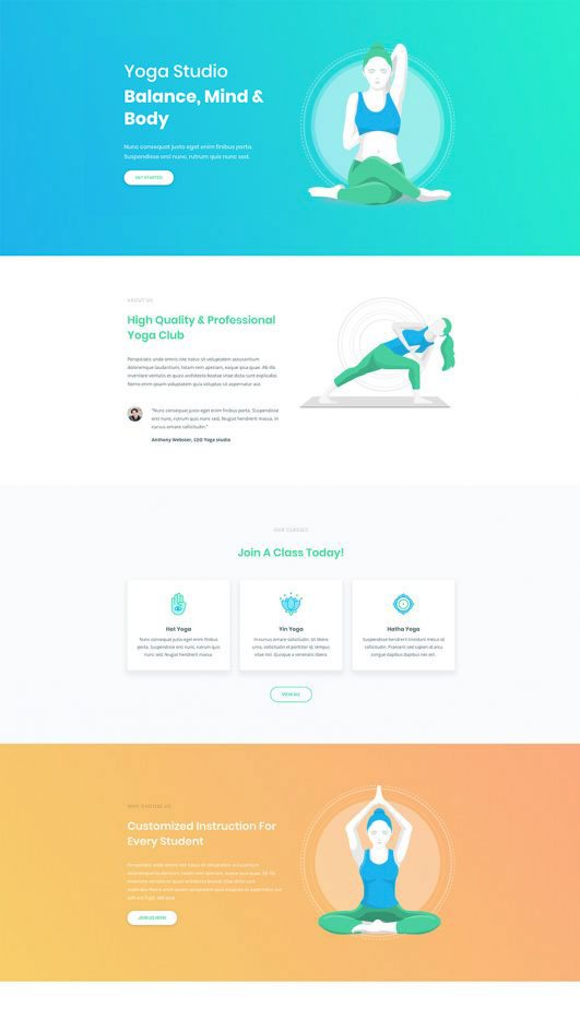 yoga Web Design & Development